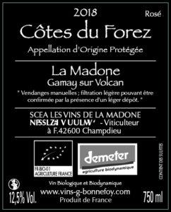 Rosé La Madone - LES VINS DE LA MADONE Gilles BONNEFOY