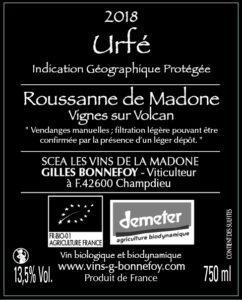 Vin blanc Roussane de Madone - LES VINS DE LA MADONE