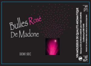 bulles rosé de madone -étiquette-